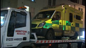 Ambulance involved in Bath 999 accident