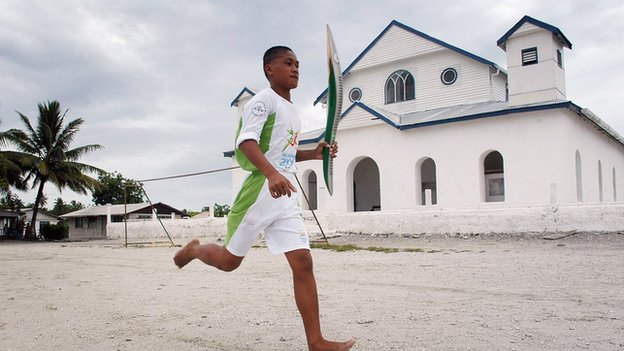 Tuvalu is one of the smallest nations to be taking part in the Commonwealth Games