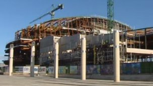 Construction of the Wales Millennium Centre