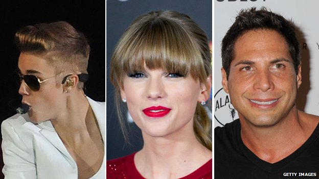 Justin Bieber, Taylor Swift and Joe Francis