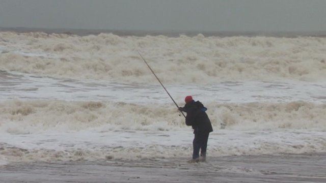 Angler in Hornsea