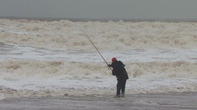 Angler in Hornsea