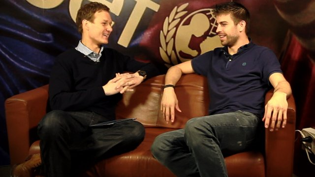 Dan Walker and Gerard Pique