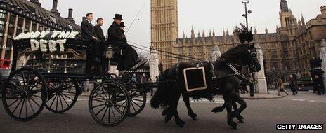 Debt jubilee campaigners in Westminster