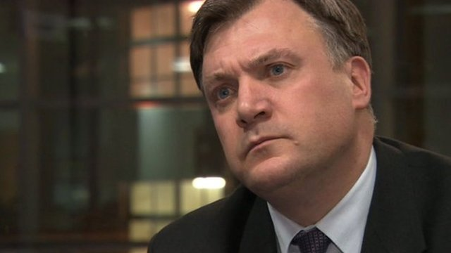 Ed Balls Shadow chancellor