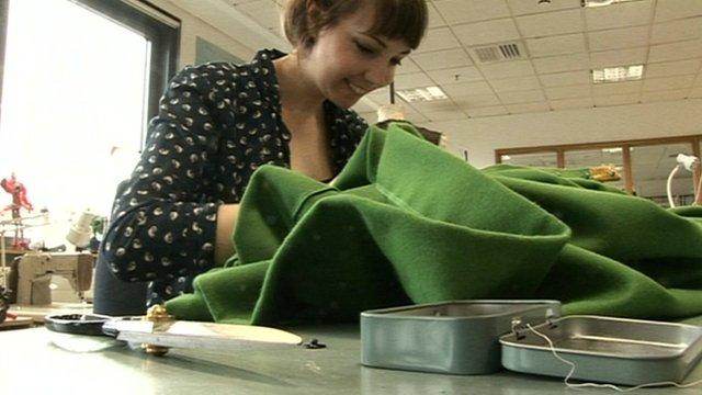 Costume apprentice Louisa Troughton