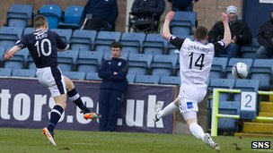 John Baird scores for Dundee against Inverness