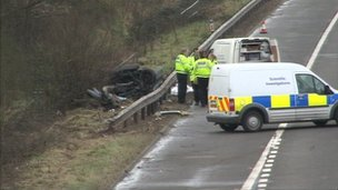 M5 motorway crash, Saturday 9 March 2013