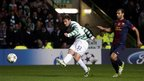 Celtic&#039;s Tony Watt scores his sides second against Barcelona