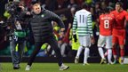 Celtic manager Neil Lennon celebrates reaching the last 16