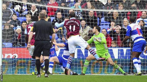 Gabriel Agbonlahor scores for Aston Villa