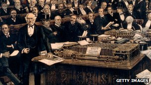 William Gladstone delivers his last speech to parliament in 1894
