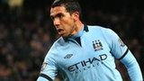 Manchester City forward Carlos Tevez