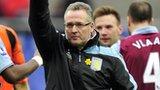 Aston Villa's Paul Lambert