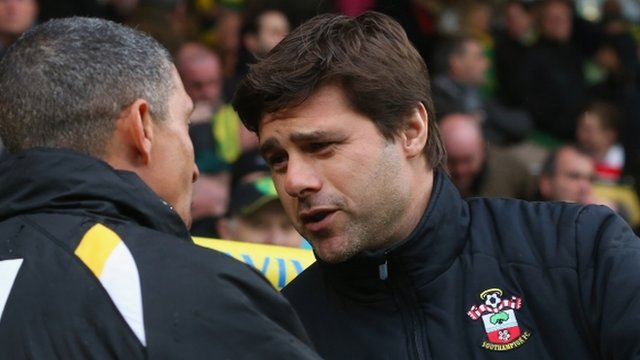 Southampton manager Mauricio Pochettino praised his goalkeeper for the late heroics