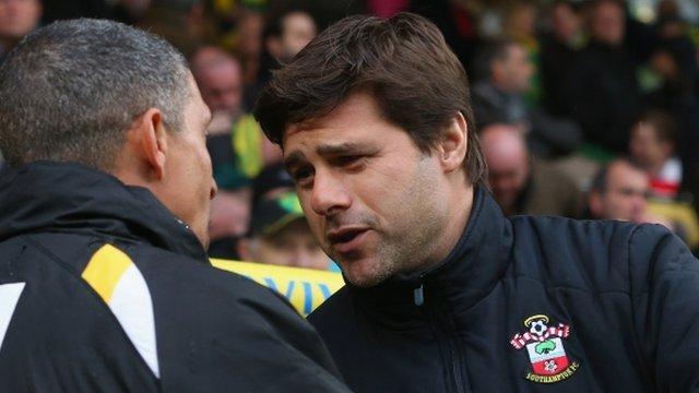 Southampton manager Mauricio Pochettino praised his goalkeeper for the late heroics