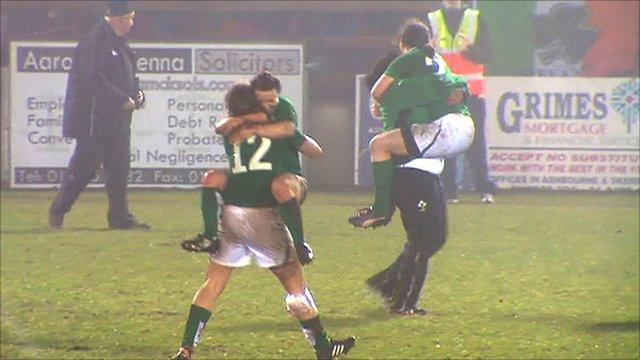 Ireland's women celebrate victory