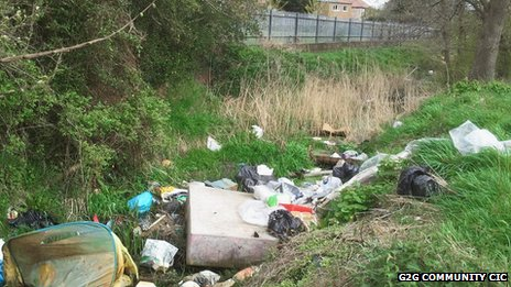 Before... Rhyl Cut was once used as a dumping ground