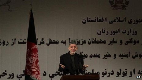 Afghan President Hamid Karzai, 10 March