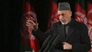 Afghan President Hamid Karzai, 10 March