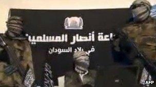 An image from a 24 December 2012 video released by Jama'atu Ansarul Muslimina fi Biladis Sudan