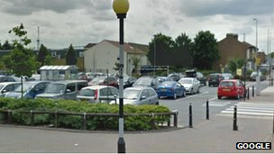 Google Street view of the car park whre the attack too place