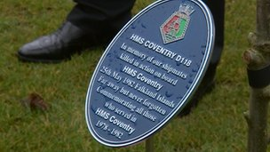 HMS Coventry plaque
