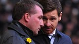Liverpool manager Brendan Rodgers (left) and Tottenham counterpart Andre Villas-Boas