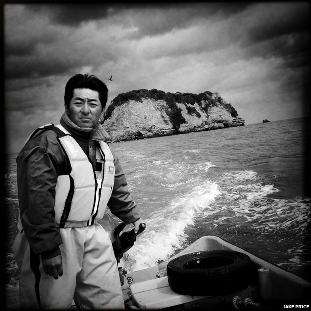 A fisherman in Tsukihama