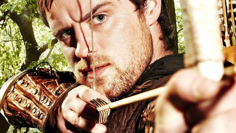 Jonas Armstrong as Robin Hood in the BBC series