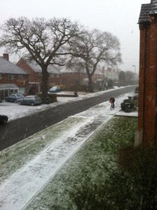 Snow in Kenilworth