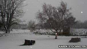 Snow in St Pierre du Bois - picture courtesy Karen Stockreiter