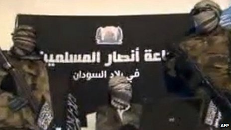 An image from a December 24, 2012 video released by Jama'atu Ansarul Muslimina fi Biladis Sudan