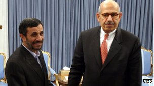 Mr Ahmadinejad and Mohamed  ElBaradei - 2009