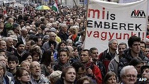 Anti-Fidesz protest in Budapest, 9 Mar 13