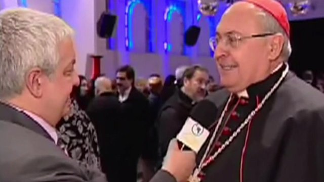 Tito Gabral interviewing Cardinal Leonardo Sandri