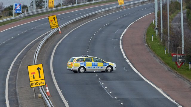 PSNI car on M5