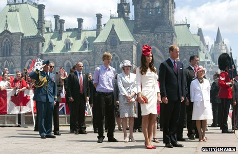 Kate and William on a Canada tour