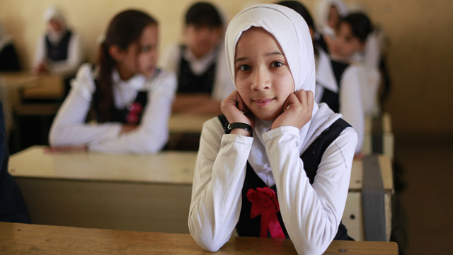 At Juhaina Elementary School, in the heart of Sadr City, the young pupils have high hopes for their futures.