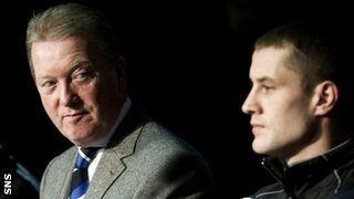 Frank Warren and Ricky Burns
