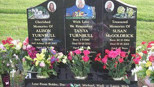 The family grave of those shot by Michael Atherton