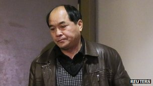 Diran Lin, father of victim Jun Lin, appeared in court for the preliminary hearing of suspect Luka Rocco Magnotta in Montreal, 11 March 2013