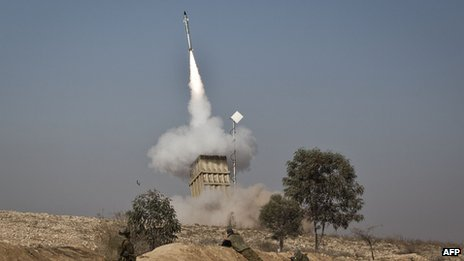 Iron Dome firing 15 November 2012