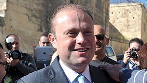 Maltese premier Joseph Gonzi