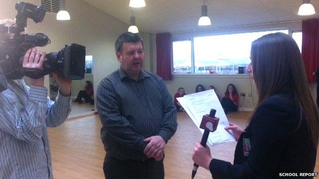 School Reporter Rachel reports on the Irish students Scottish dance