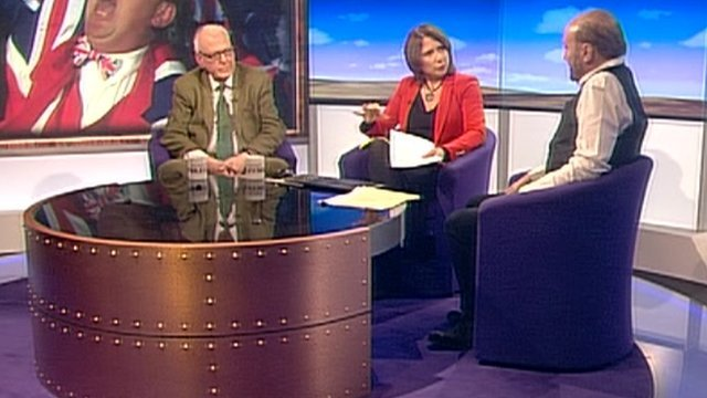 Lord Hennessy, Jo Coburn and George Galloway