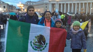 Marina and family in St Peter's Square