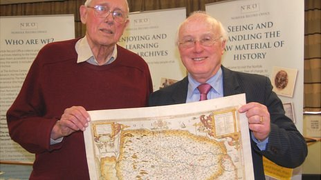 Rare maps being given to Norfolk Record Office