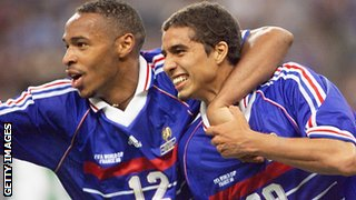 Thierry Henry and David Trezeguet