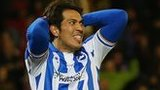 Leonardo Ulloa missed from the spot